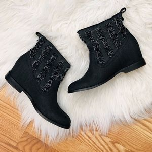 Joes Jeans Fray Denim Boots 8